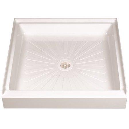 DURABASE FIBERGLASS SQUARE SHOWER FLOOR, WHITE, 32 X 32 IN. Fiberglass Shower Pan