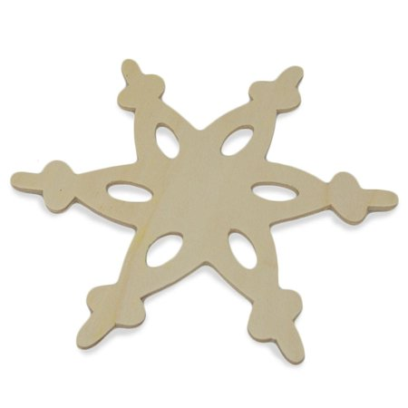 Blank Unfinished Wooden Snowflake Cut Out 5.5 Inches](Grinch Wooden Cut Out)