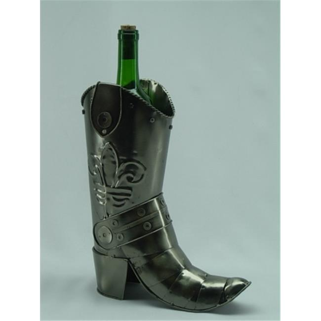 Three Star ZB790 Fabulous Genunie Hand Made Caddy Cowboy Boot Metal Wine Bottle Holder - image 1 of 1