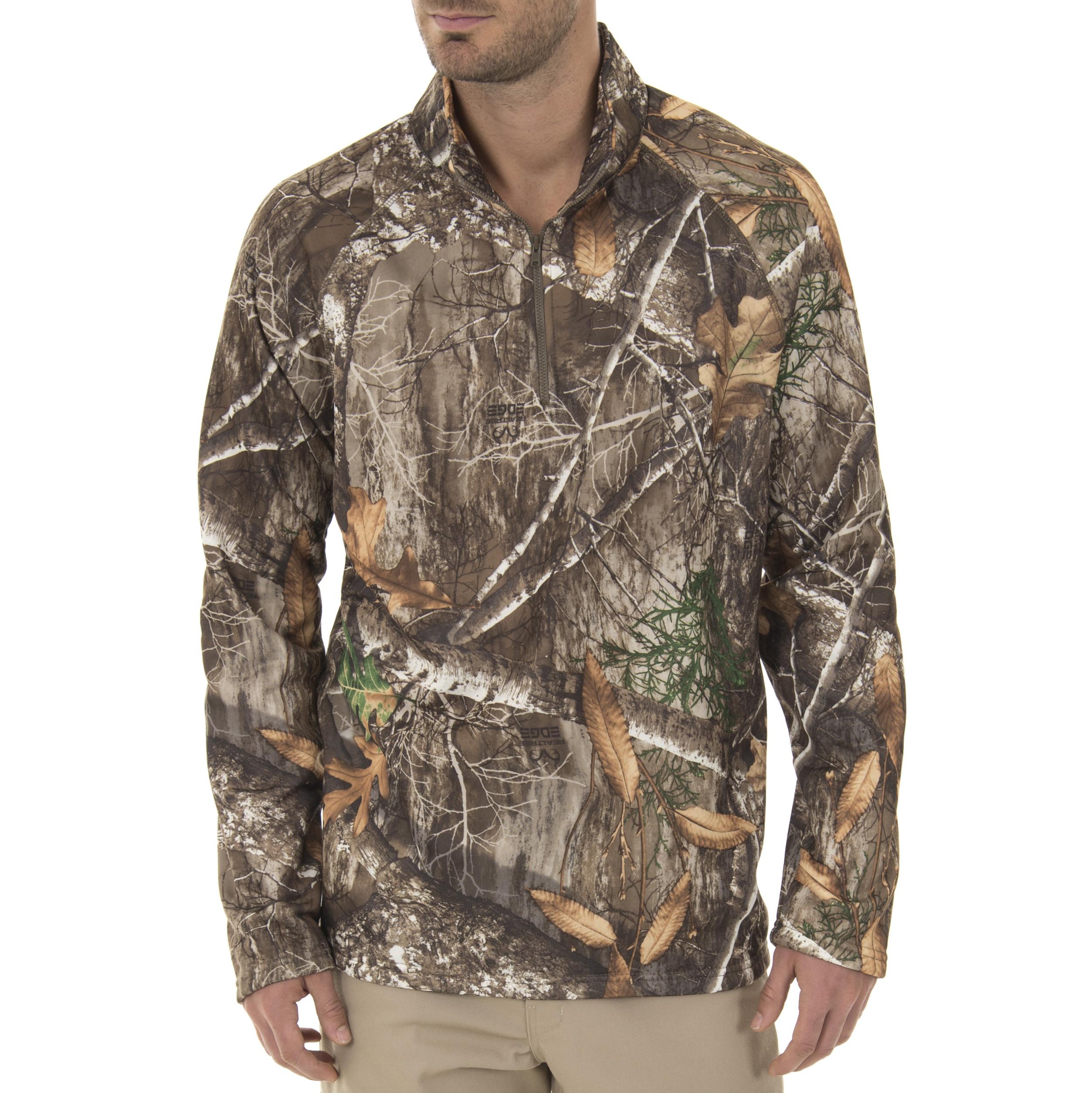 Realtree & Mossy Oak Men's Fleece Performance Camo 1/4 Zip Jacket