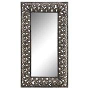 Stein World Flora Antique Silver Floor Mirror 13276