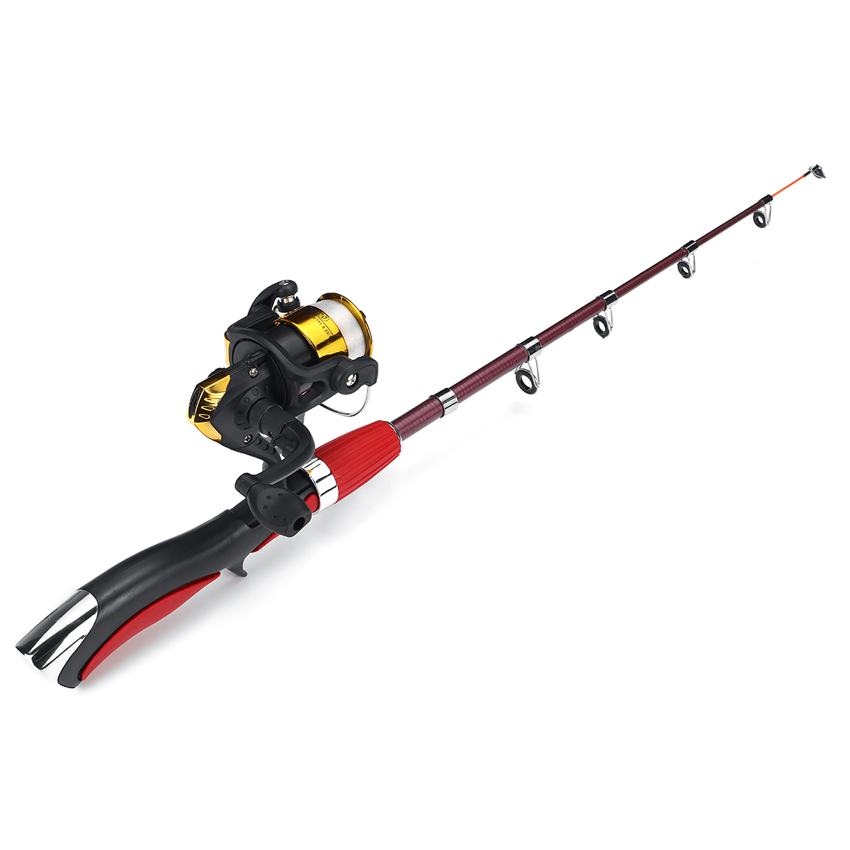 Bag Z6F9 Details about  /Travel Fishing Rod Reel Combo Telescopic Fishing Pole Spinning Reels