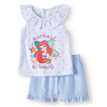 Baby Girl Ariel Tee and Short, 2-Piece set (Baby Girl) (Toddler Ariel)