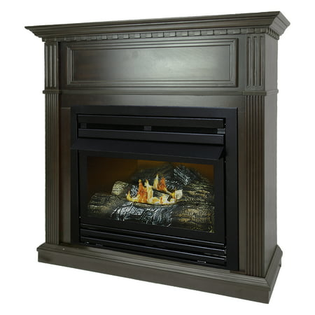 Vent Free Gas Fireplace - Pleasant Hearth 42 in. Natural Gas Intermediate Tobacco Vent Free Fireplace System 27,500 BTU
