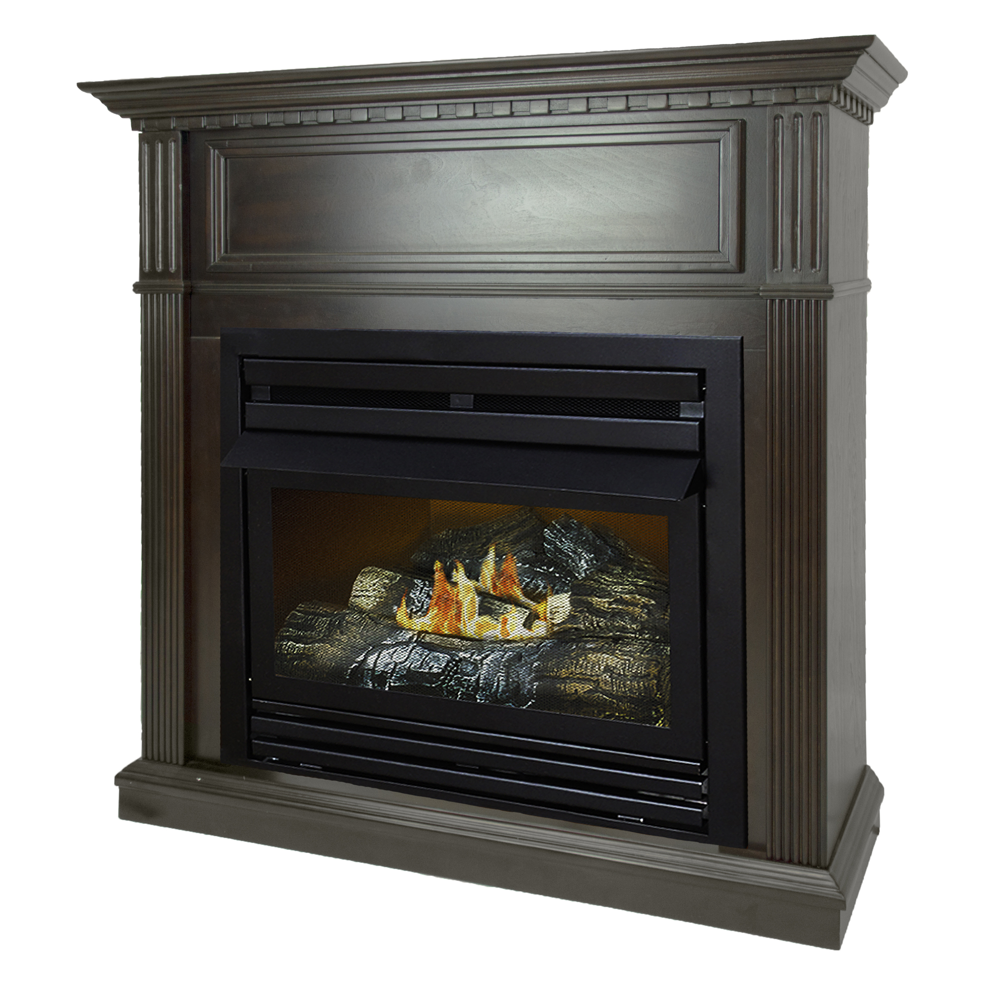 Pleasant Hearth 42 in. Natural Gas Intermediate Tobacco Vent Free Fireplace System 27,500 BTU