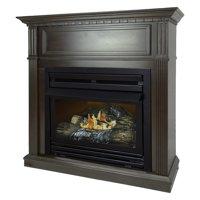 Pleasant Hearth 42 in. Natural Gas Intermediate Tobacco Vent Free Fireplace System 27,500 BTU