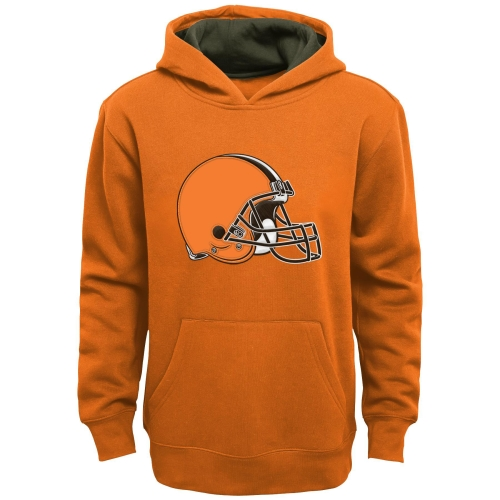 Cleveland Browns Youth Fan Gear Prime Pullover Hoodie - Orange