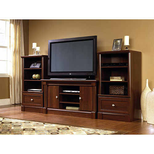 Sauder Palladia Entertainment Center Value Bundle, Cherry