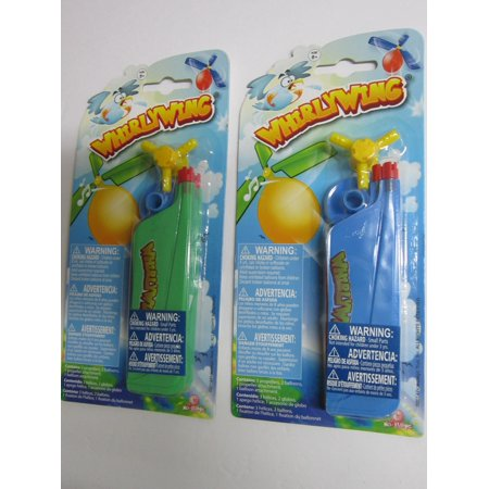 2  Packs of WHIRLY WING High Flying Whistling Balloon Helicopter - Whistling Balloons