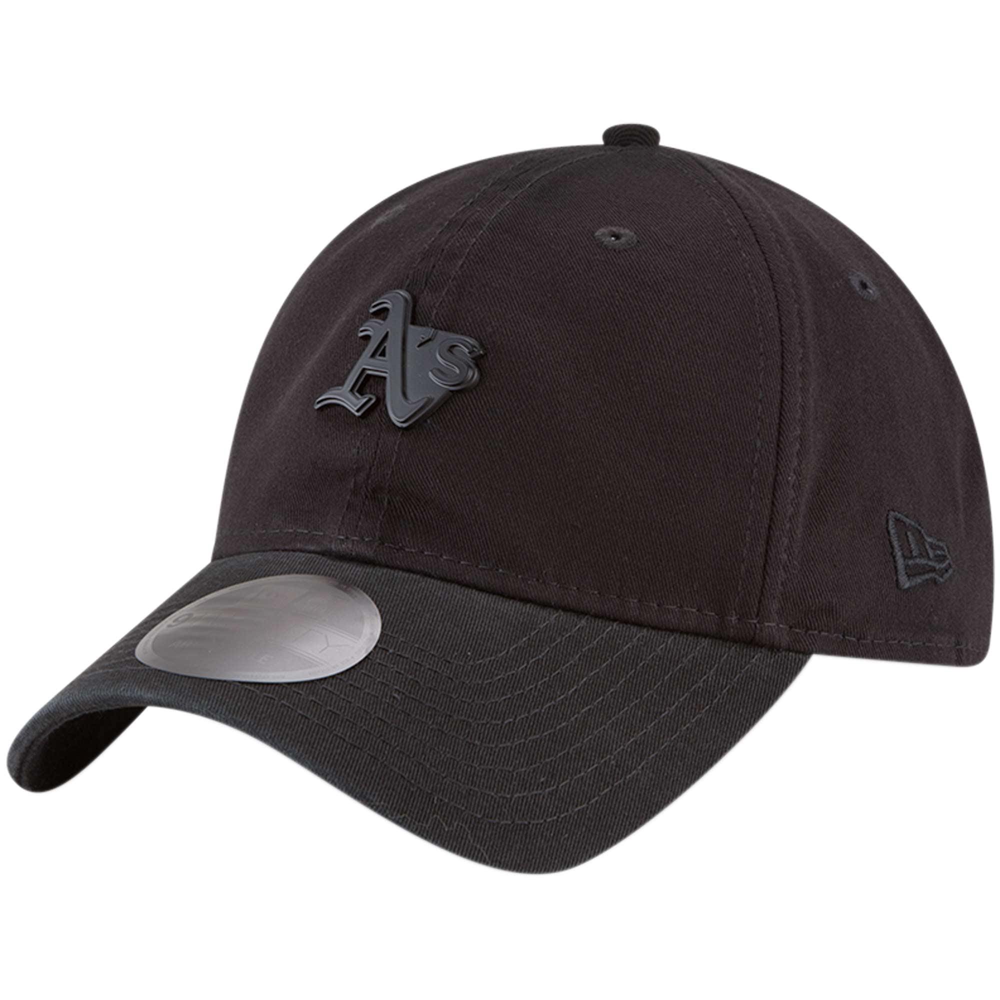 Oakland Athletics New Era Micro Matte 9TWENTY Adjustable Hat - Black - OSFA