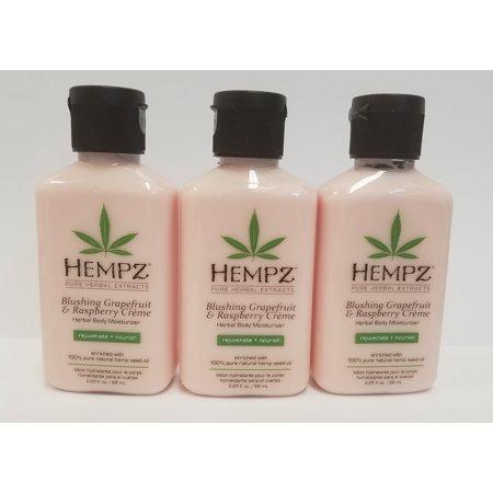 Pack of 3 - HEMPZ 2.25 fl. oz Lotion - Blushing Grapefruit and Raspberry Creme