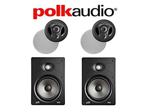 (2) Polk Audio 900-LS #43; (2) Polk Audio V85 Vanishing Series In-Wall In-Ceiling Home Speaker System by Polk Audio