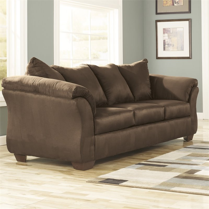 Flash Furniture Fabric Sofa in Cafe