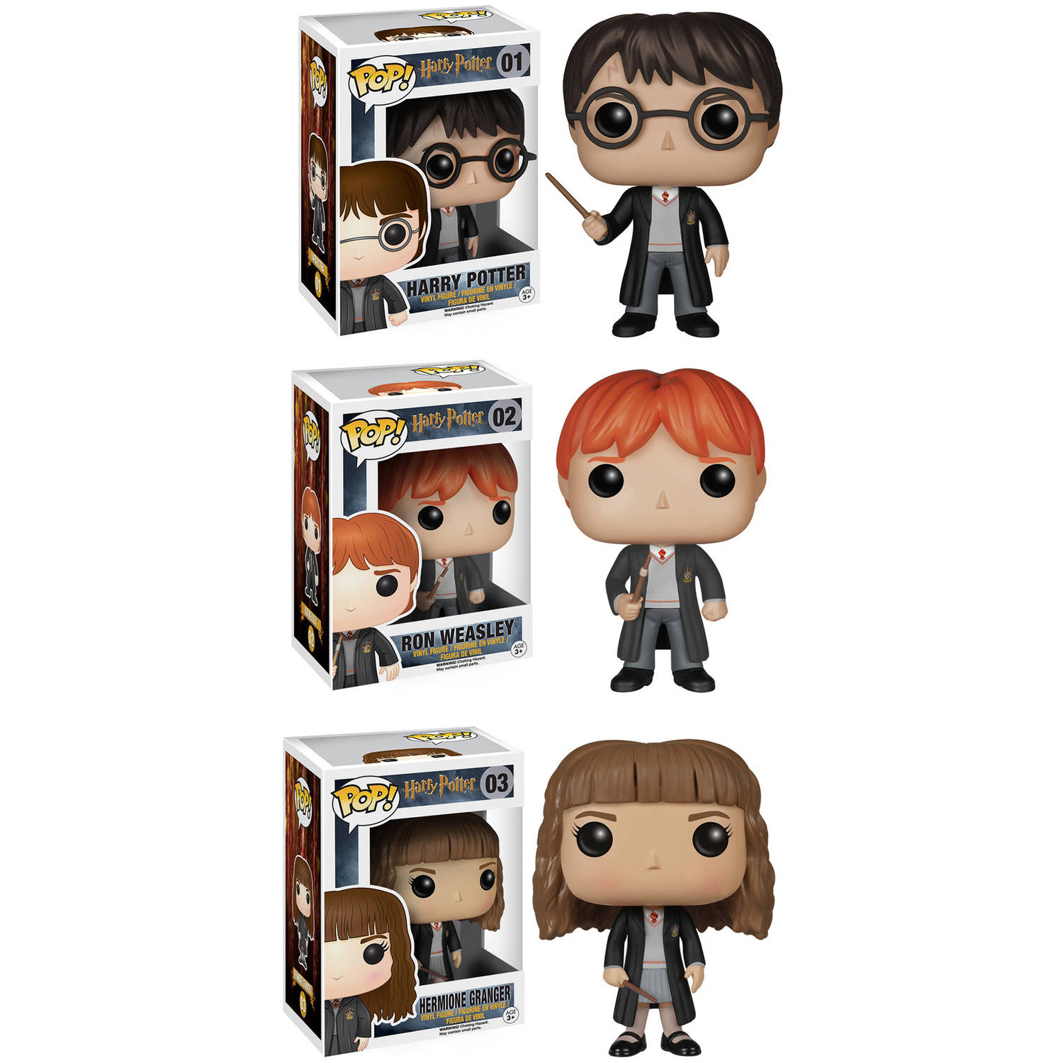 Funko Harry Potter POP! Movie Vinyl Collectors Set: Harry Potter, Ron Weasley and Hermione