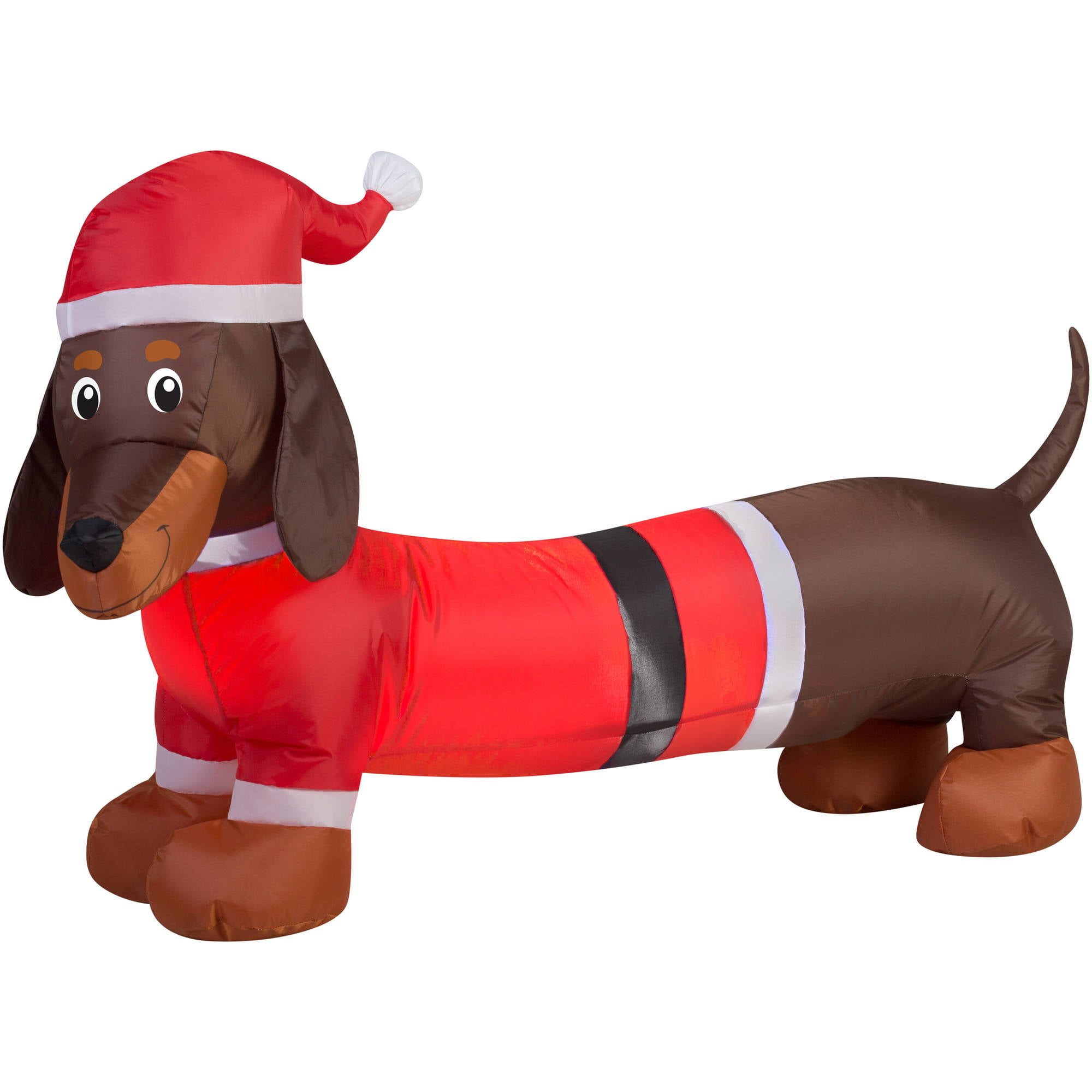 holiday time 4ft weiner dog inflatable walmartcom - Outdoor Dog Christmas Decorations
