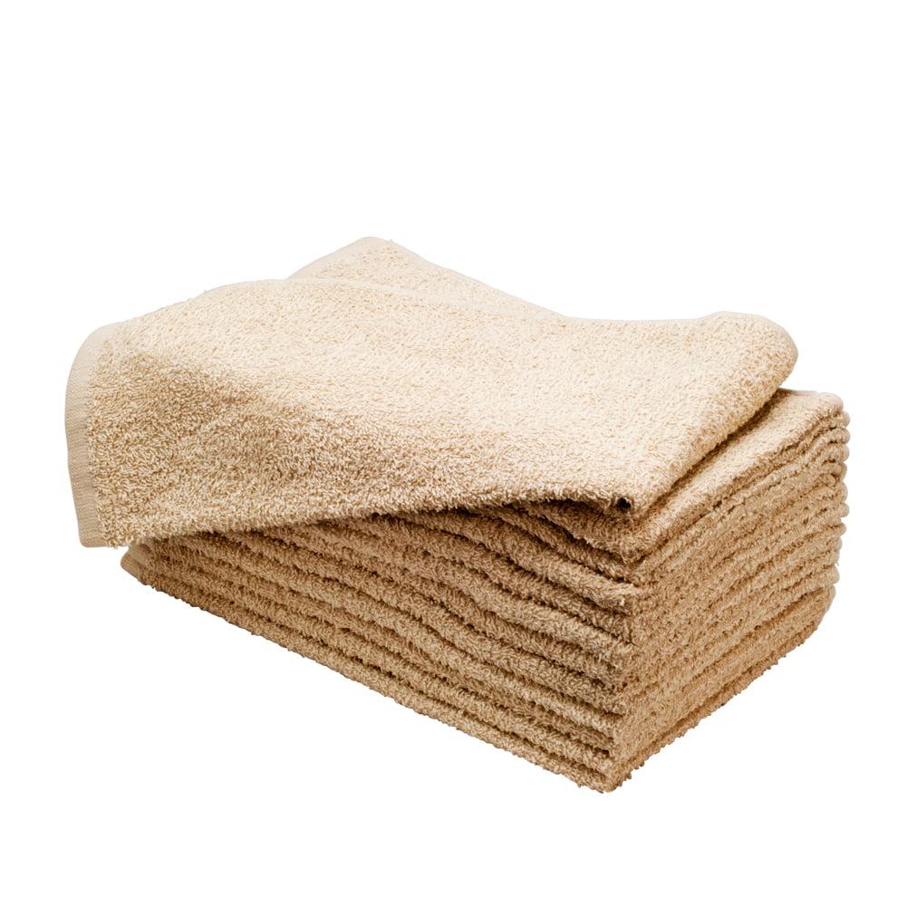 """Altima Plus 16"""" x 27"""" 12 Pack Bleach Chemical Resistant Cotton Salon Towels, BEIGE, 78630"""