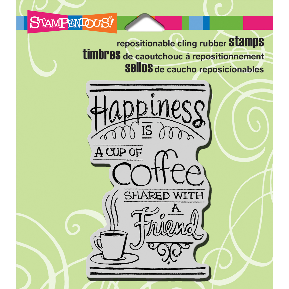 "Stampendous Cling Stamp 3.5""X4"" -Shared Coffee - image 1 of 1"