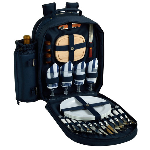 Picnic At Ascot Chevron 4 Person Picnic Backpack