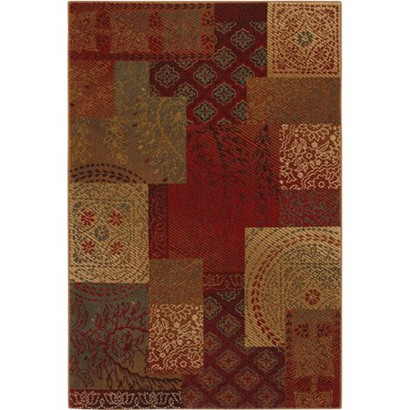 Mohawk Country Quilt Woven Area Rug Earth Blast 8 X 10