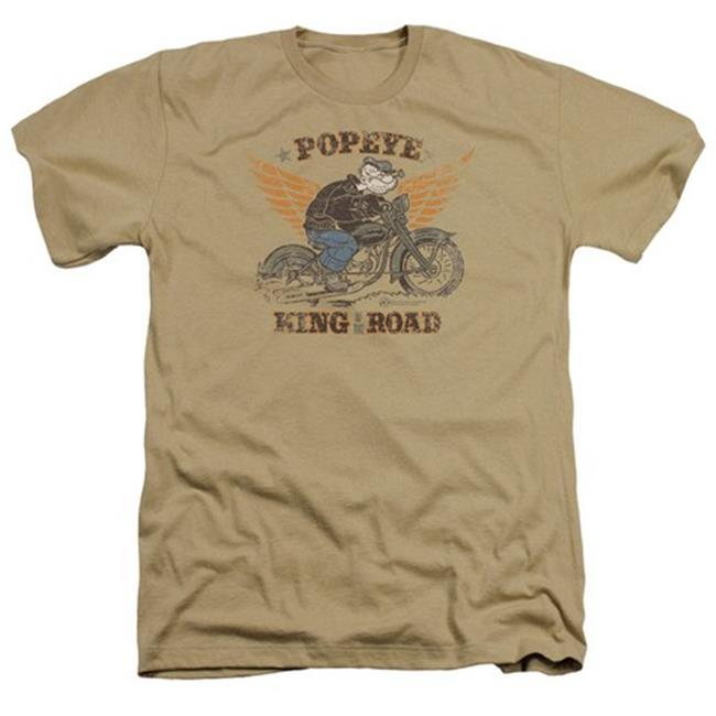 Popeye-King Of The Road Adult Heather Tee, Sand - Large - image 1 de 1