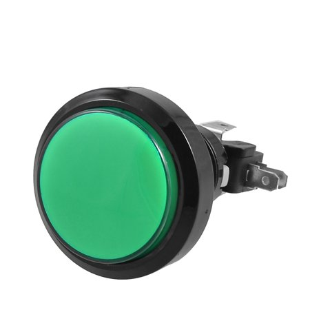 Arcade Game 36mm Green Illuminated Momentary Push Button SPDT Micro