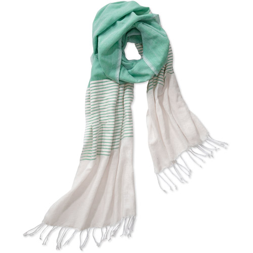 Multi Stripe Scarf Mint by Salem for Full Circle Exchange