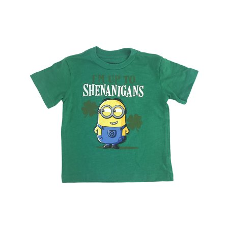 Toddler Baby Boys St Patricks Day Minions T-Shirt Short Sleeve Green - Minions Character Names
