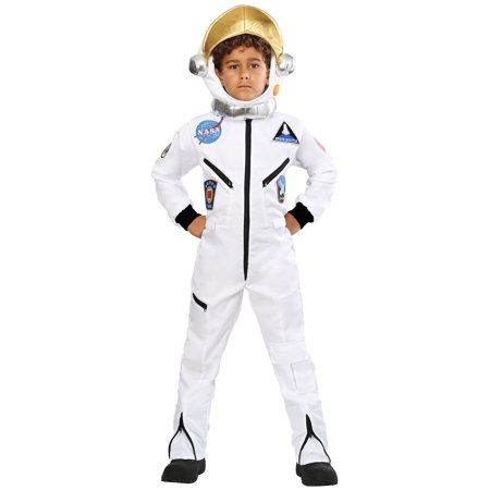 Child White Astronaut Jumpsuit Costume for $<!---->