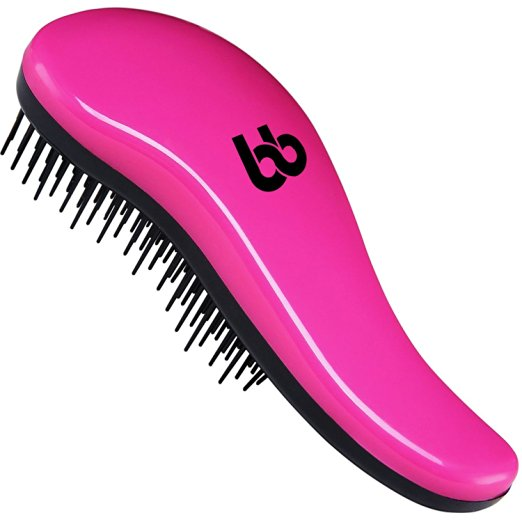 Detangling Hair Brush, Best Detangler Comb for Women, Men & Children, Pink, By Beauty Bon