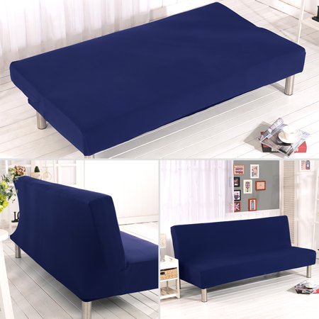 Cream Futon Cover (Sofa Bed Cover Folding Armless Sofa Cover Elastic Futon Couch Slipcover Furniture Protector Cover Washable)