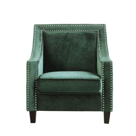 Chic Home Camren Accent Club Chair Velvet Upholstered