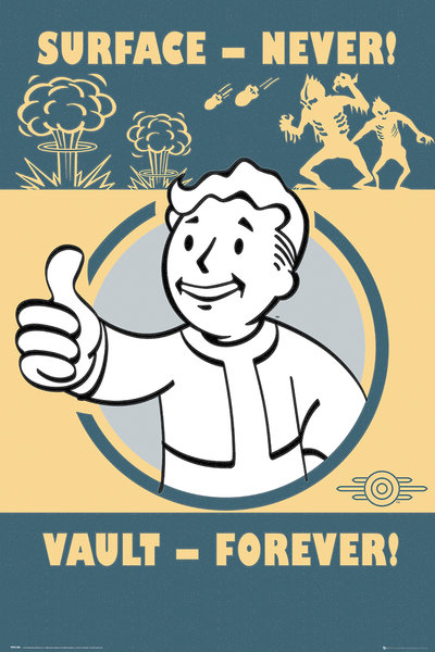 Gaming Poster/Print Fallout 4 Vault-Tec Compilation/Vault Boy by ...