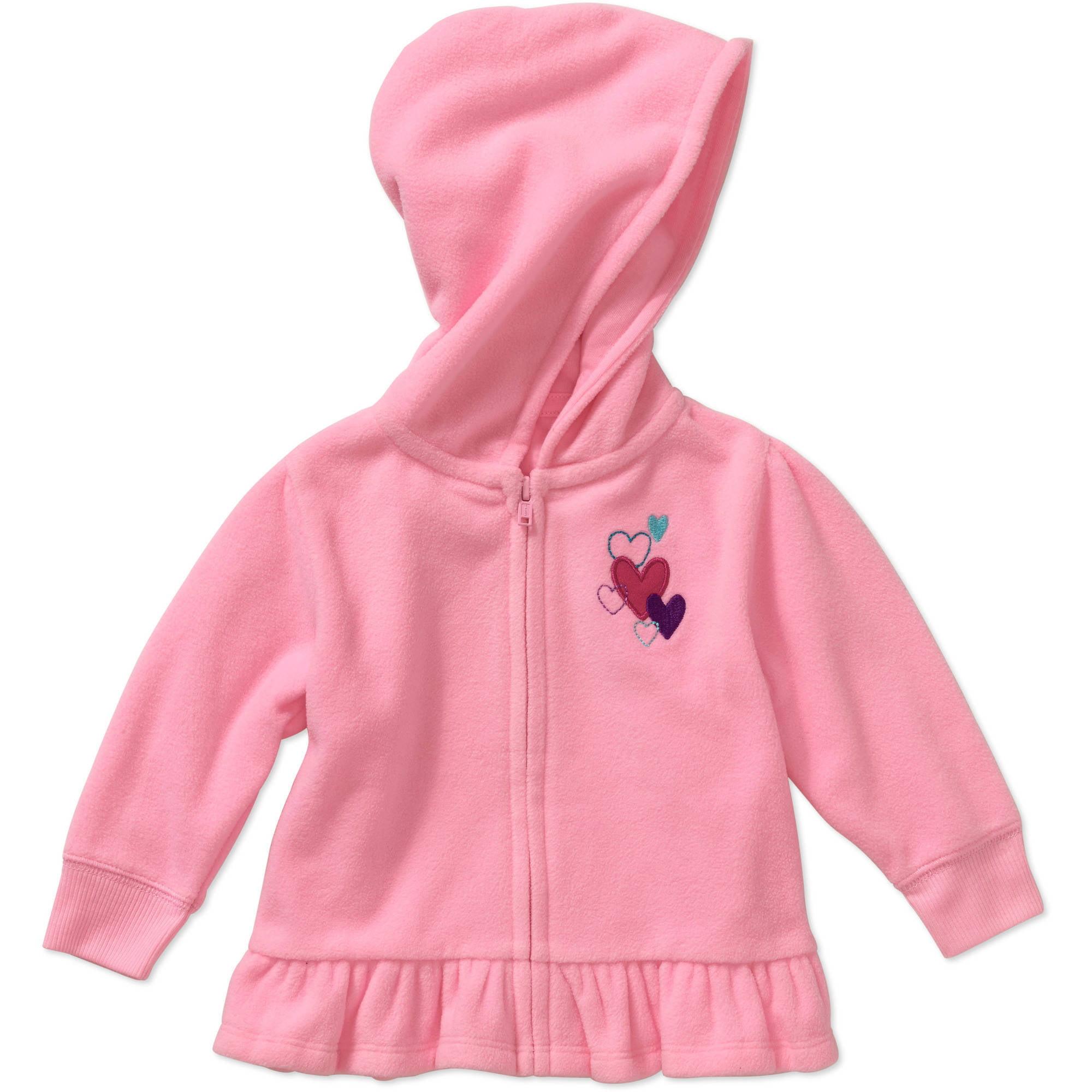 Garanimals Baby Girl Solid Micro Fleece Hoodie