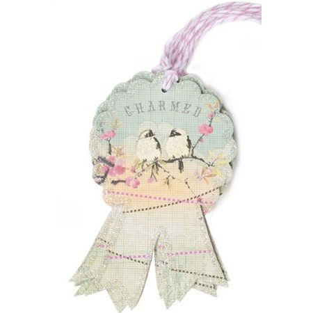 Charmed Glitter Originality Unique Flavor Artistic Bird Gift Tag By Papaya
