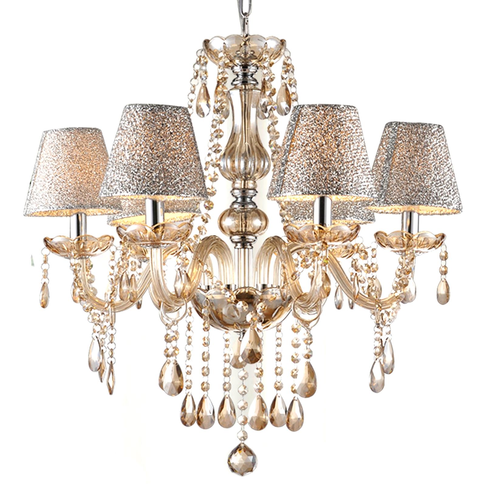 Crystal Lamp Chandelier Ceiling Chain Lamp 6 Lights smt