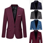 Fashion Stylish Men Casual Slim Formal One Button Suit Blazer Coat Jacket Tops