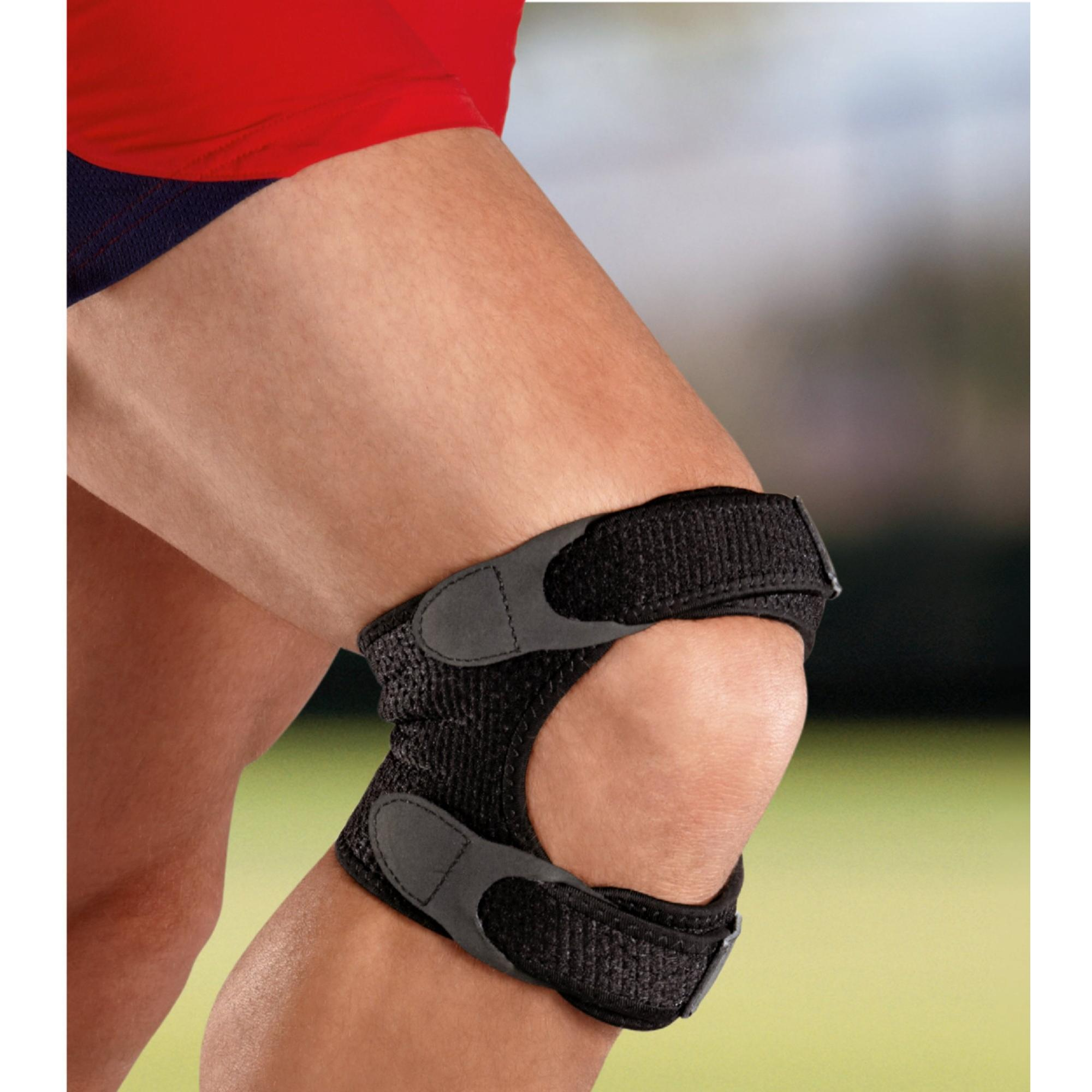 c0756f9825 ACE Brand Dual Knee Strap, Adjustable, Black, 1/Pack - Walmart.com