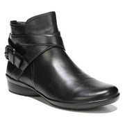 Naturalizer CASSANDRA Womens Black Leather Zip Up Ankle Boots