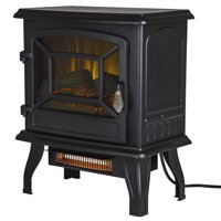 17-In Infrared Electric Stove with 2 Stage Heater