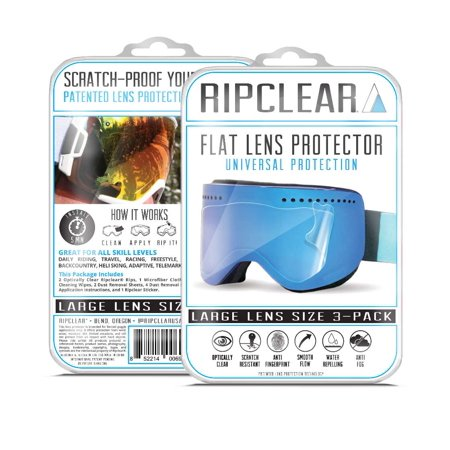 Ripclear Spy Raider Snow Goggle Lens Protector Kit - Scratch-Resistant, Crystal Clear - (Spy Goggle Lenses)