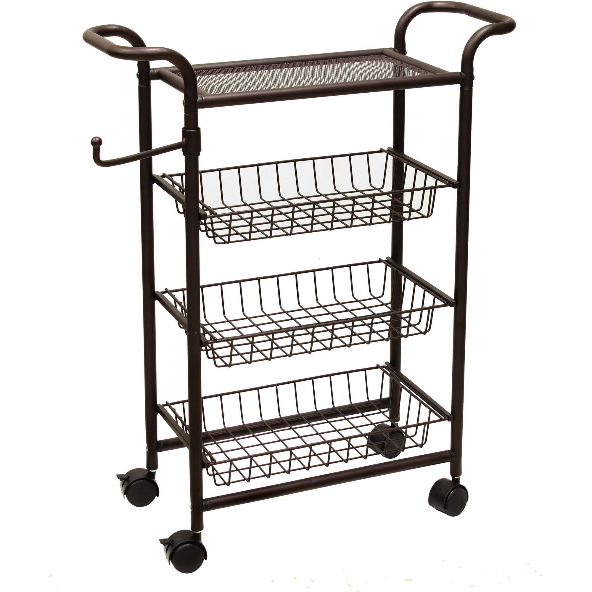 Chapter Bathroom Storage Cart Oil Rubbed Bronze Walmart