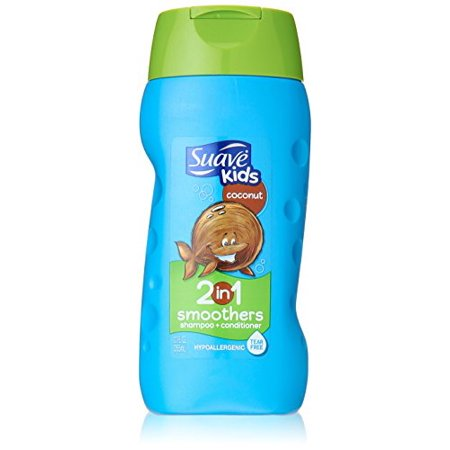 Suave Kids Coconut 2 in 1 Smoothers Shampoo + Conditioner 12 Oz ()