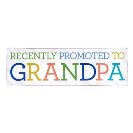 Grandpa Plaque (About Face Designs Recently Promoted to Grandpa Wooden Wall Décor Plaque )