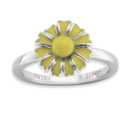 Sterling Silver Stackable Expressions Daisy Ring Size 10 - image 1 of 3