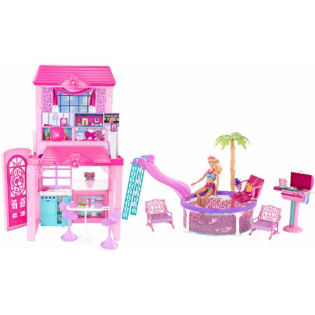 Barbie Deco House Dollhouse Walmart Com