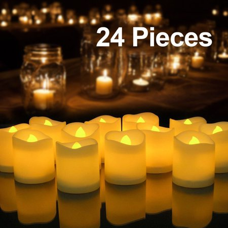 24PCS Flameless Votive Candles Battery Operated Flickering LED Tea Light - Led Tea Candles