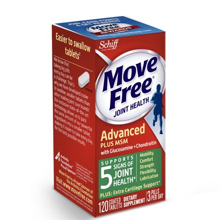 Move Free Advanced Plus Msm  120 Tablets   Joint Health Supplement With Glucosamine And Chondroitin