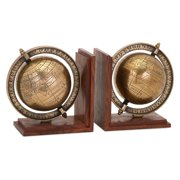 Classy Globe Bookends - Set of 2