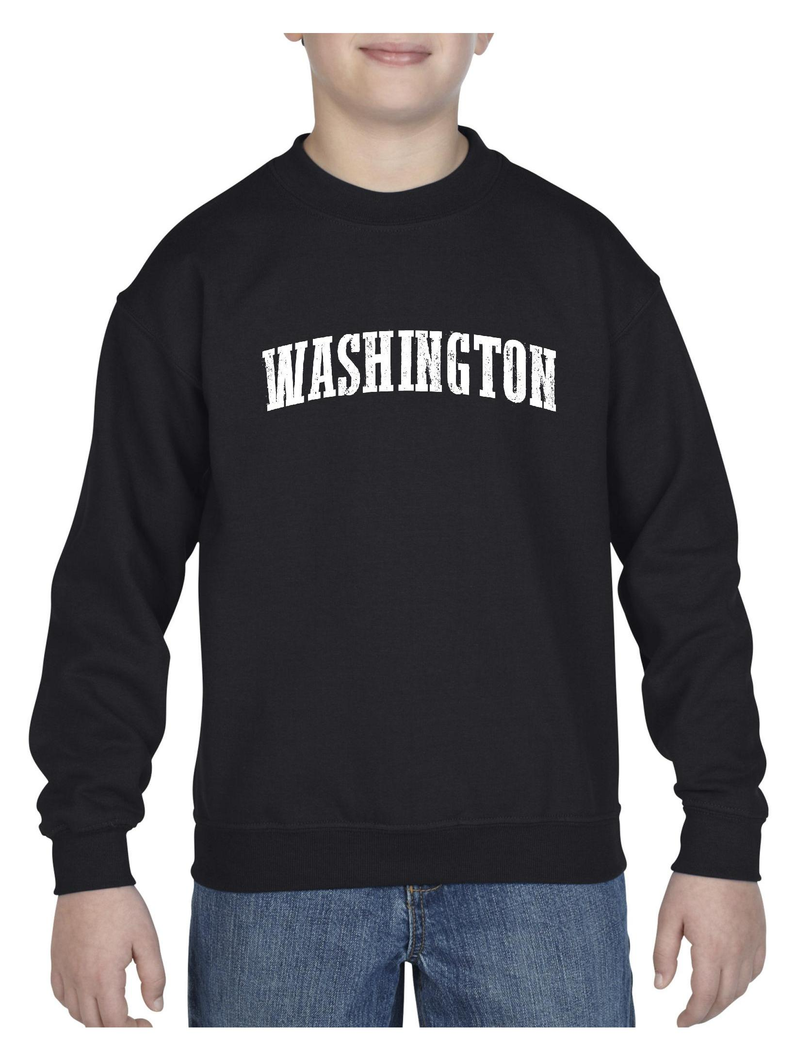 Washington State Flag Unisex Youth Crewneck Sweatshirt