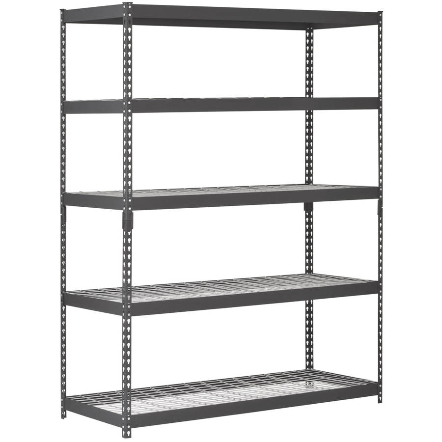 Edsal 5 shelf heavy duty steel shelving - Muscle Rack 60 W X 24 D X 78 H Five Shelf Heavy Duty Steel Shelving Unit Black Walmart Com